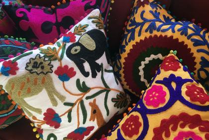 Embroidered Suzani Pillows